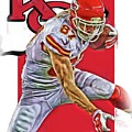 Travis Kelce Kansas City Chiefs Oil Art by Joe Hamilton