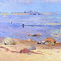 Treading Clams At Wickford by William James Glackens
