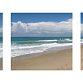 Treasure Coast Beach Florida Seascape C4 Triptych 2 by Ricardos Creations