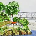Treasure Island - California Sketchbook Project  by Irina Sztukowski