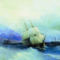Trebizond From The Sea 1875 61h94 Ivan Konstantinovich Aivazovsky by Eloisa Mannion