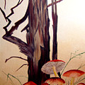 Tree And Mushrooms by JoLyn Holladay