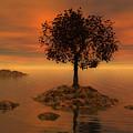 Tree At Sunset by Judi Suni Hall