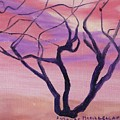 Tree At Sunset by Suzanne  Marie Leclair