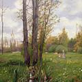 Tree Beside Water  by Ernest Le Villain