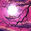 Tree Branch In Pink Moonlight by Laura Iverson