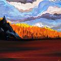 Tree Fall Camping by David Loblaw