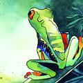 Tree Frog Eats Bugs by Jo Lynch