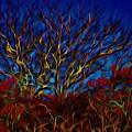 Tree Glow In The Dark by Lilia D