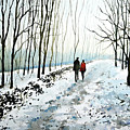 Tree Lined Stroll by Paul Dene Marlor