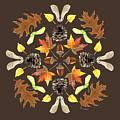 Tree Mandala 1 - Watercolor by Cindy Skidgel
