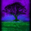 Tree Of Life - Purple Sky by Robert R Splashy Art