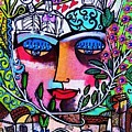 Tree Of Life Face by Sandra Silberzweig