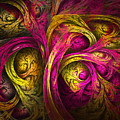 Tree Of Life In Pink And Yellow by Tammy Wetzel