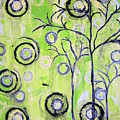 Tree Of Life Spring Abstract Tree Painting  by Kathy Augustine