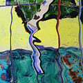 Tree With Yellow Sky by Lenore Senior