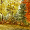 Trees At Fall by Artemis Melissarato