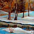 Trees At The Rivers Edge by Carole Spandau