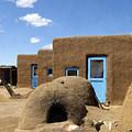 Tres Casitas Taos Pueblo by Kurt Van Wagner