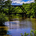 Trestle Over River by Mark Myhaver
