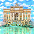 La Dolce Vita - The Trevi Fountain In Rome by Mark Tisdale