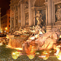 Trevi Fountain At Night by Jim Kuhlmann