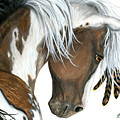 Tri Colored Pinto Horse by AmyLyn Bihrle