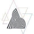 Triangle Op Art by BONB Creative