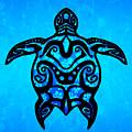 Tribal Turtle Hibiscus by Chris MacDonald