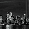 Tribute In Light  # 7 - B  And  W by Allen Beatty