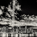 Tribute Over Manhattan - Bw by Nick Zelinsky