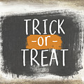 Trick Or Treat Sign- Art by Linda Woods by Linda Woods