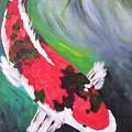Tricolored Koi by Barbara Harper