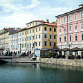 Trieste Canal Grande Italy Photo Canvas by Luca Lorenzelli