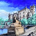 Trieste  Castello Di Miramare by Victor Minca