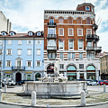 Trieste Circle Fountain Ponterosso Square Canvas Italy Photo by Luca Lorenzelli