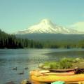 Trillium Lake Oregon by Toula Mavridou-Messer