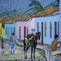 Trinidad Lifestyle 28x22in Oil On Canvas  by Manuel Lopez