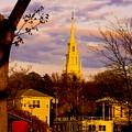 Trinity Church Spring Sunset by Steven Natanson