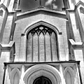 Trinity Episcopal Cathedral Black And White by Lisa Wooten