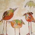 Trio Birds by Lora McGowan