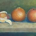 Trio Of Tangerines by Ellen Minter