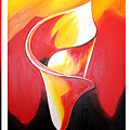 Triple Lily Paintings by Fabjola Bramo