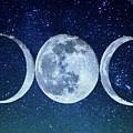 Triple Moon Milkyway by Paula OMalley