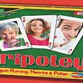 Tripoley Board Game Painting by Tony Rubino