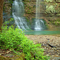 Tripple Falls In Springtime by Iris Greenwell