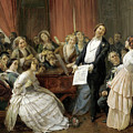 Triumph Of A Tenor At A Musical Matinee by Francois-Auguste Biard