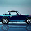 Triumph Tr5 1968 Painting by Paul Meijering