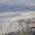 Triumvirate Glacier In Winter Light by Tim Grams