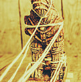 Trojan Horse Wooden Toy Being Pulled By Ropes by Jorgo Photography - Wall Art Gallery